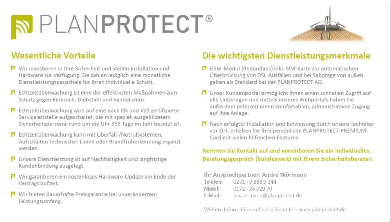 Planprotect - Andre Wörmann - Echtzeitüberwachung - Dienstleistung